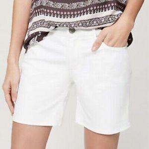 NWT! ✨ White Loft Bermuda Shorts